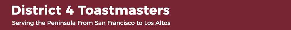 District 4 Toastmasters